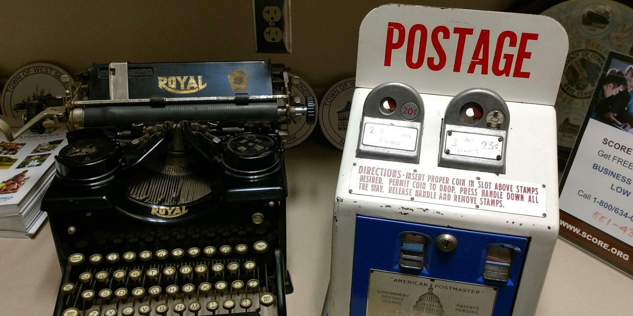 Vintage items on display at the Chamber of Commerce