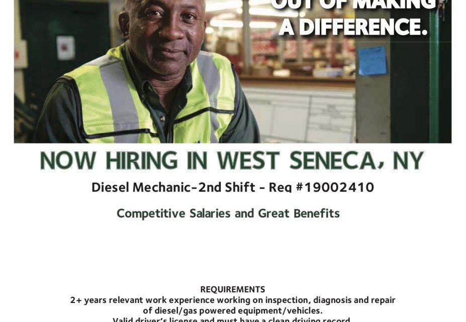 Job Opening: Diesel Mechanic