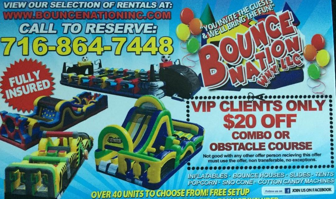 Bounce Nation offers special discount