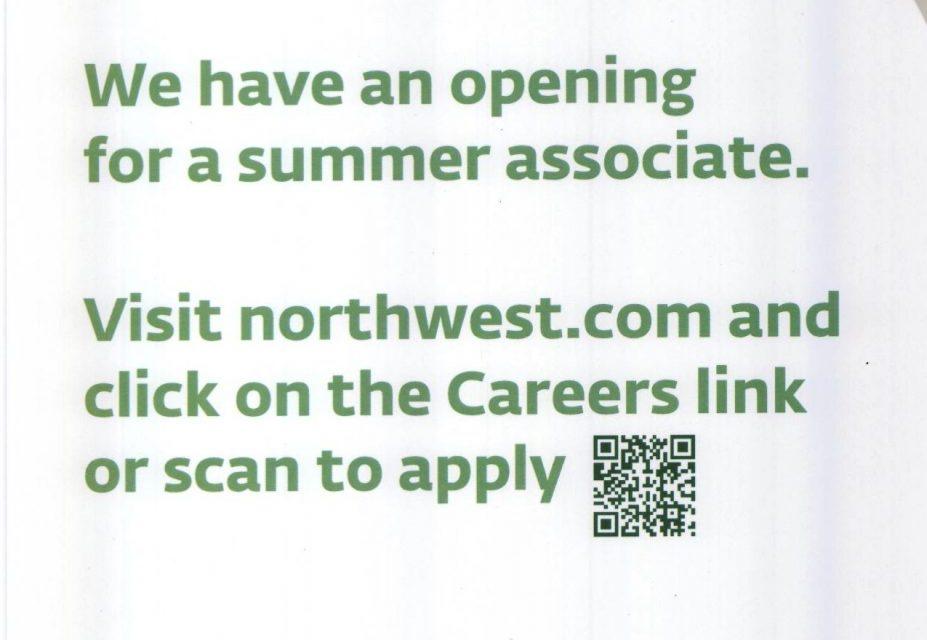 Northwest Bank hiring summer associate