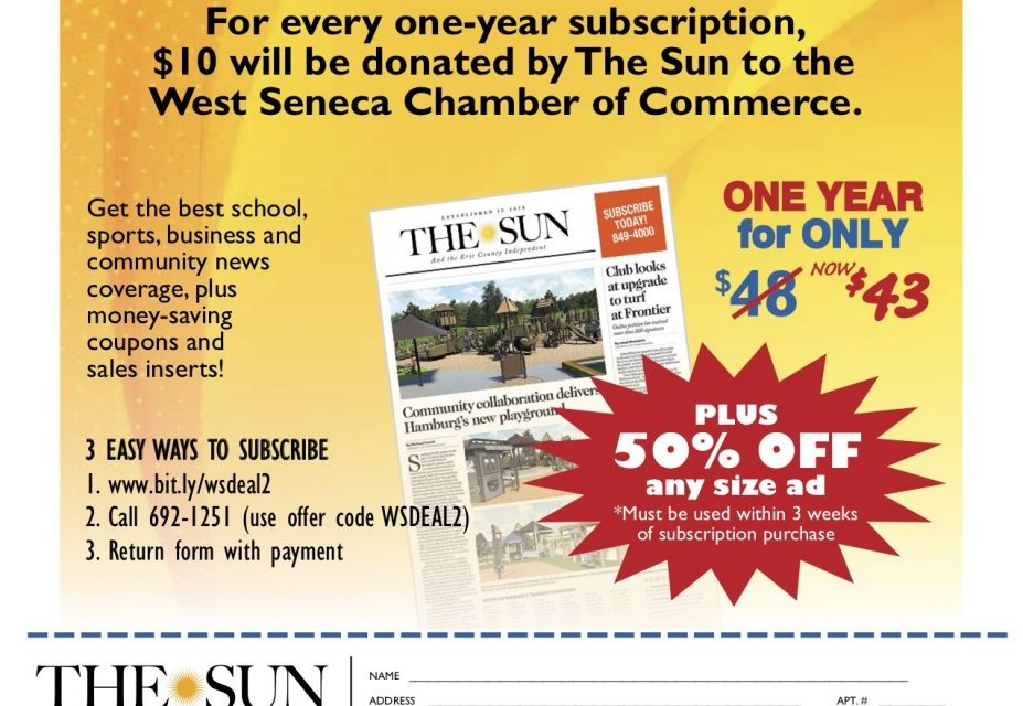 Special offer from the West Seneca Sun