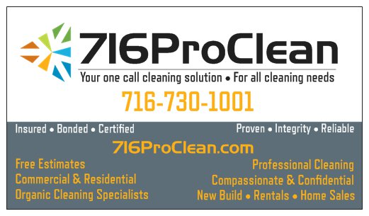 716ProClean Group is ready to assist with your cleaning projects