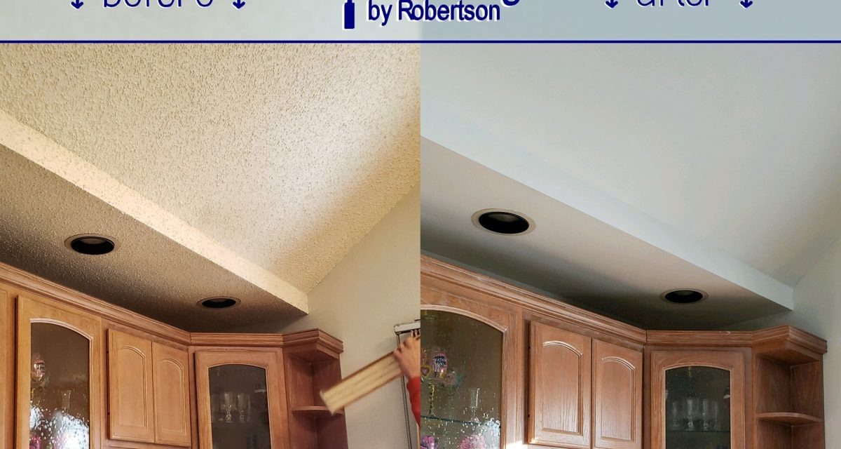 Removing a 'popcorn' ceiling? Protect yourself and your property