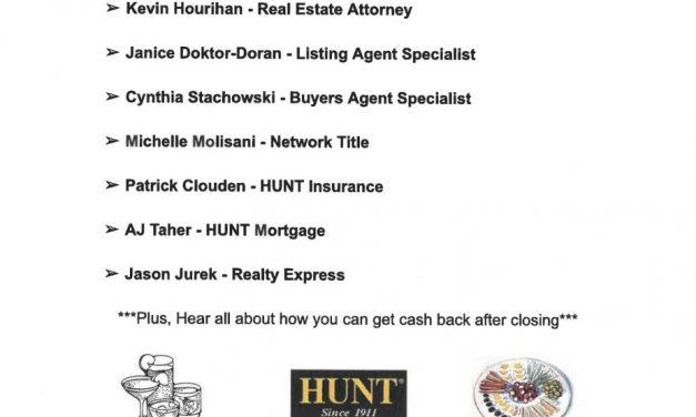 Hunt Real Estate plans mixer